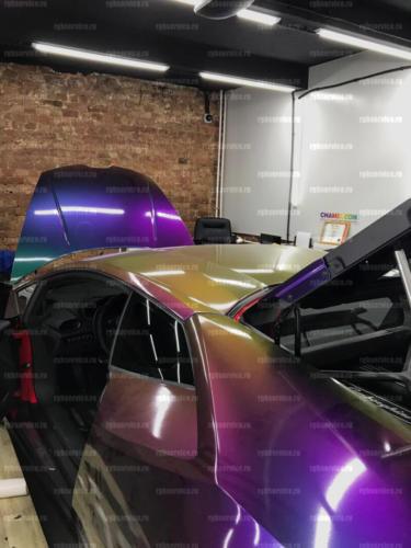 Видеонаблюдение в салоне авто винила chameleon