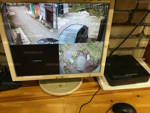 Установка видеонаблюдения за гаражом