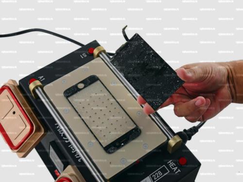Удаление остатков стекла с дисплея айфона