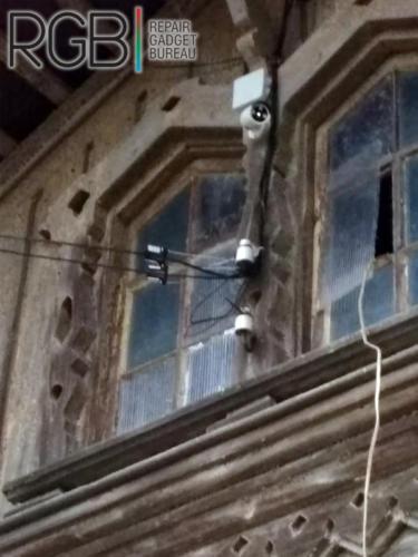 Установка системы видеонаблюдения частный дом