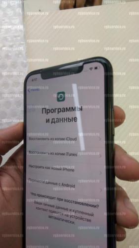 Лицевая сторона оригинального дисплея наклон налево iPhone X