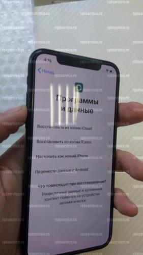 Лицевая сторона оригинального дисплея наклон направо iPhone X