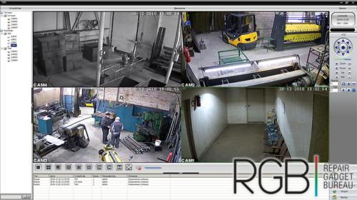 Установка СКУД и 4х камер на производстве