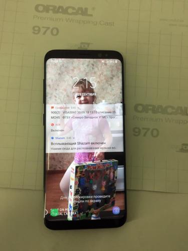 телефон Samsung S8 заменённый дисплей